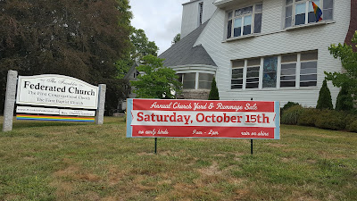 Franklin Federated - Giant Yard Sale - Saturday, Oct 15