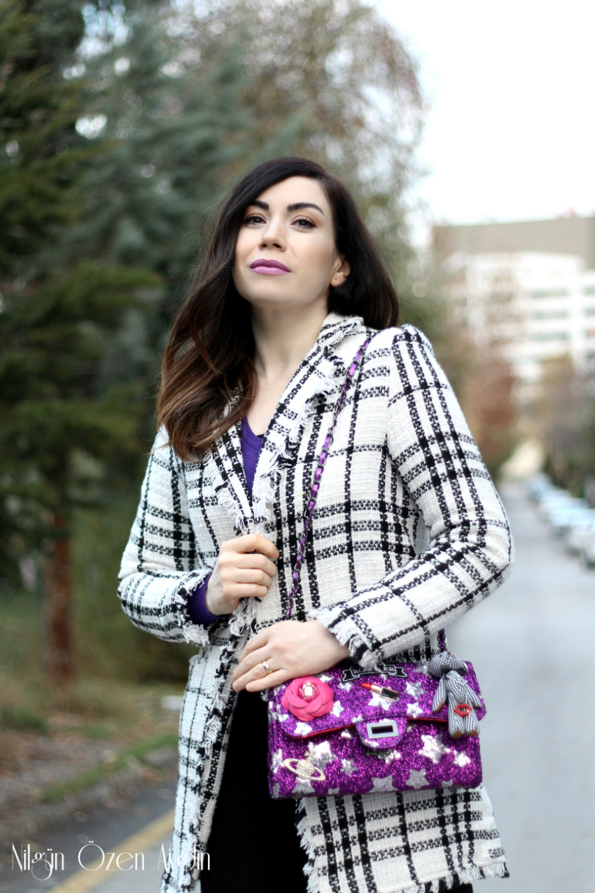 pinkyçanta-mor çanta-moda blogu-fashion blogger