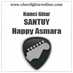 Chord Happy Asmara Santuy