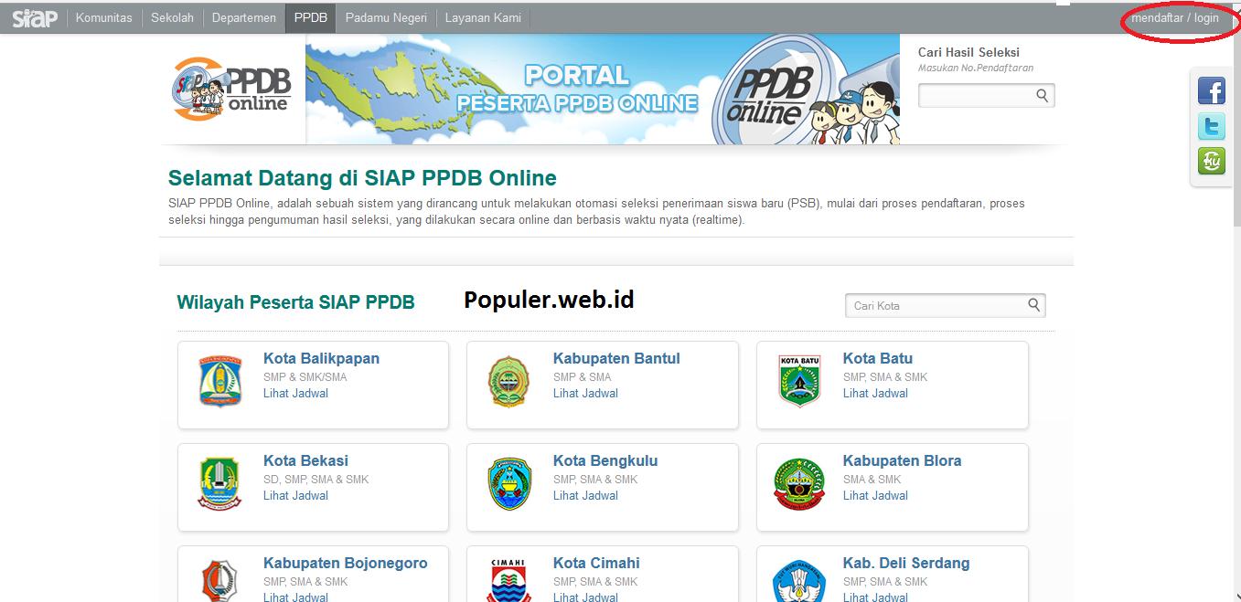 Pendaftaran Online Ppdb Siswa Baru Smp Mts 2019 2020 Populer Web Id