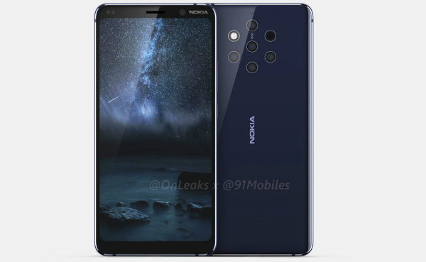 Before officially announced .. Video leaked of Nokia 9 with 5 camera