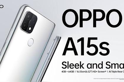 Smartphone Oppo A15s Murah dengan Helio P35