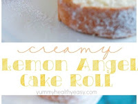 CREAMY LEMON ANGEL CAKE ROLL