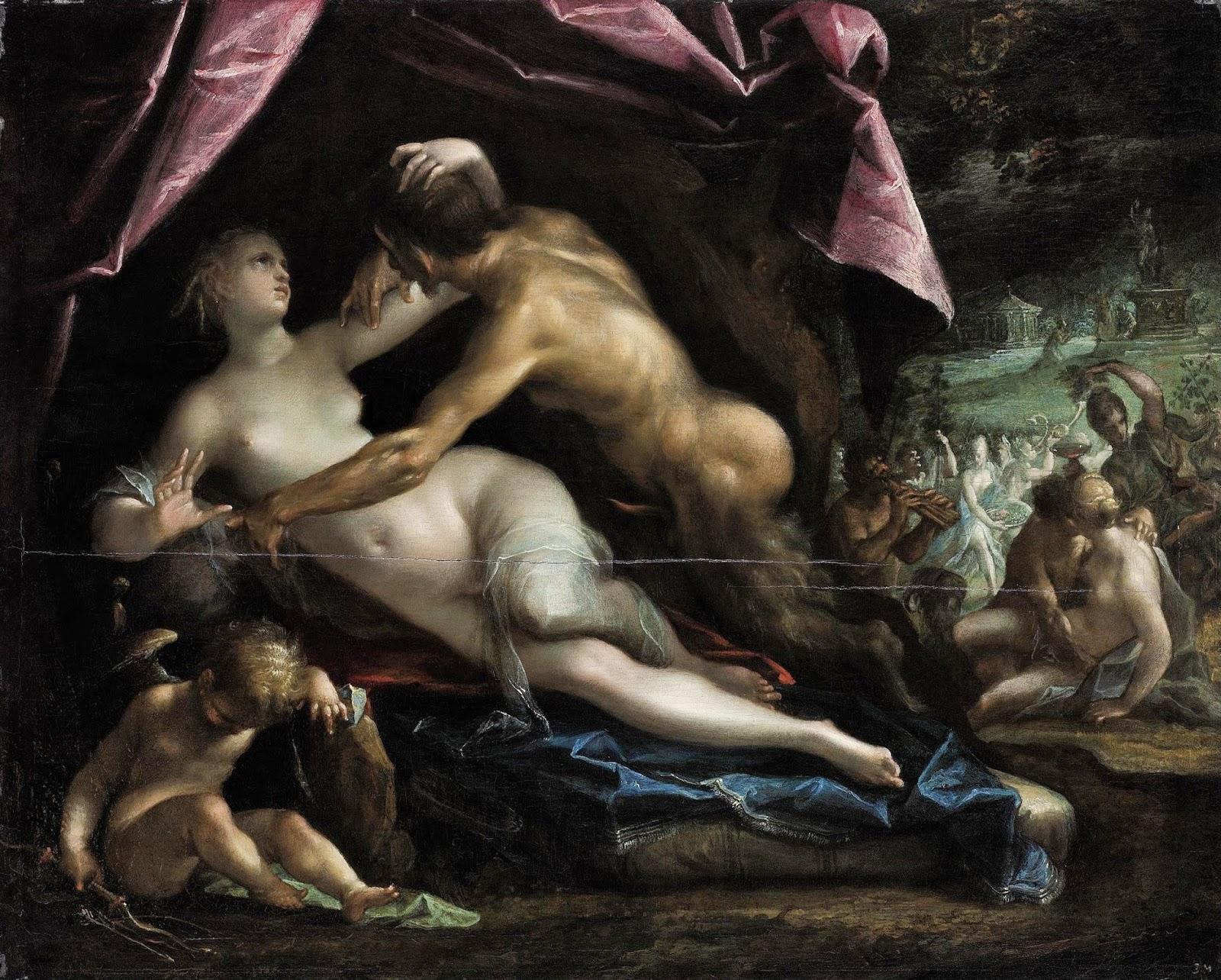 Pan e Selene - Hans Von Aachen e suas pinturas ~ Um grande pintor do estilo maneirista