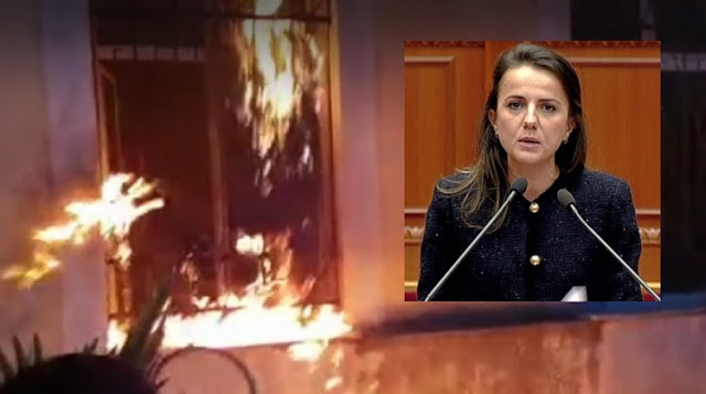 Rudina Hajdari: I donate my salary to the School burned by protesters in Shkodra