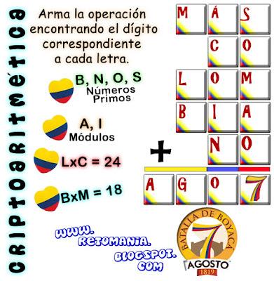 Alfaméticas, Criptoaritméticas, Criptosumas, Retos matemáticos, Desafíos matemáticos, Problemas matemáticos, Juego de letras