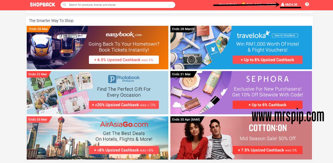 Kelebihan shopping secara online melalui SHOPBACK