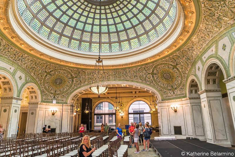 Preston Bradley Hall Chicago Cultural Center Girls' Weekend in Chicago