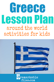 Building the perfect Greece lesson plan for your students? Are you doing an around-the-world unit in your K-12 social studies classroom? Try these free and fun Greece activities, crafts, books, and free printables for teachers and educators! #Greece #lessonplan