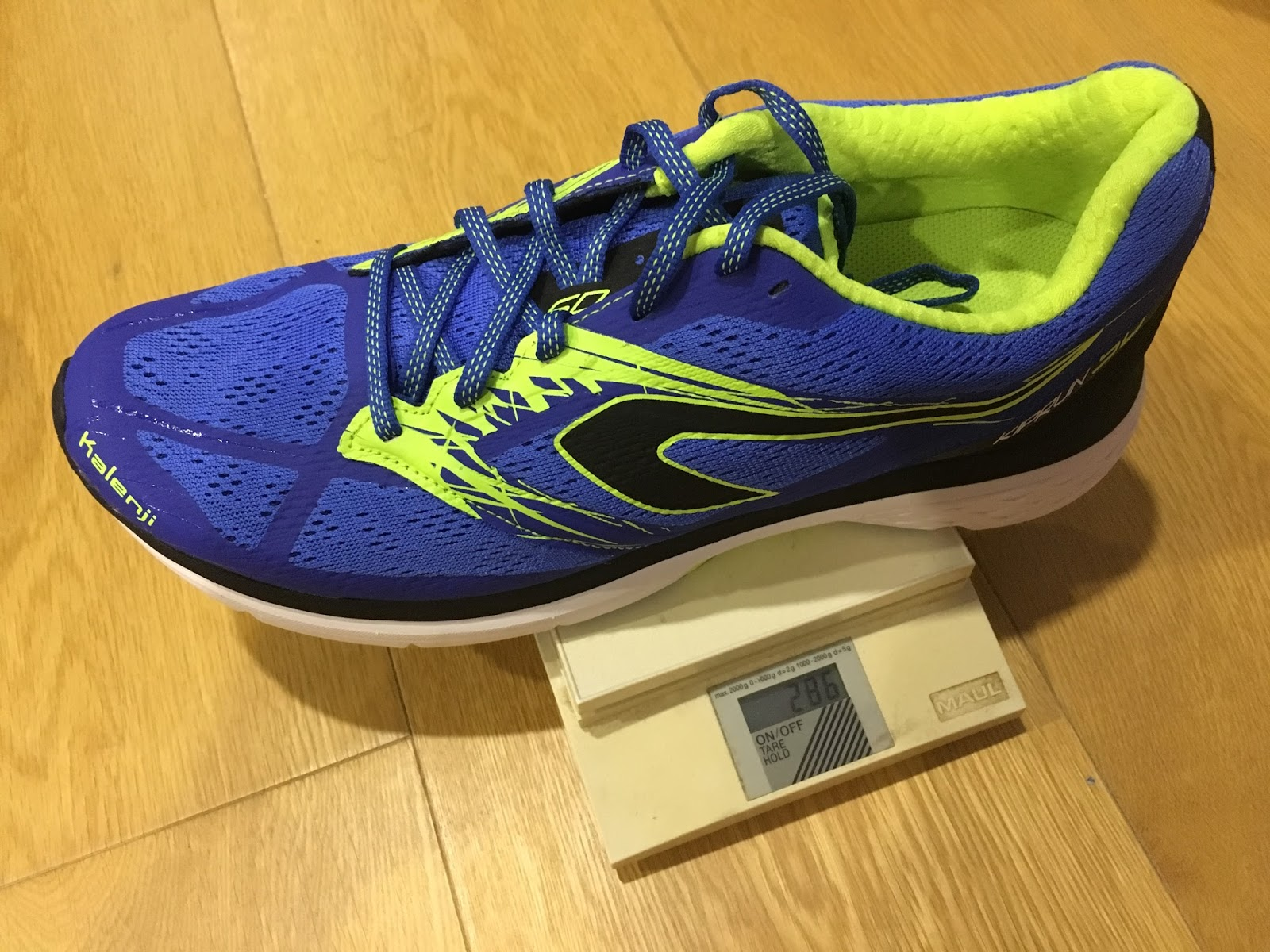 10d1de68d9d The Kalenji Kiprun SD in US9.5 comes in at 286g which is in line with what  the early Brooks Launch models weighed in the same size.