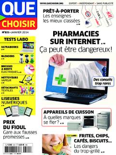 première pharmacie en ligne de france selon Que Choisir
