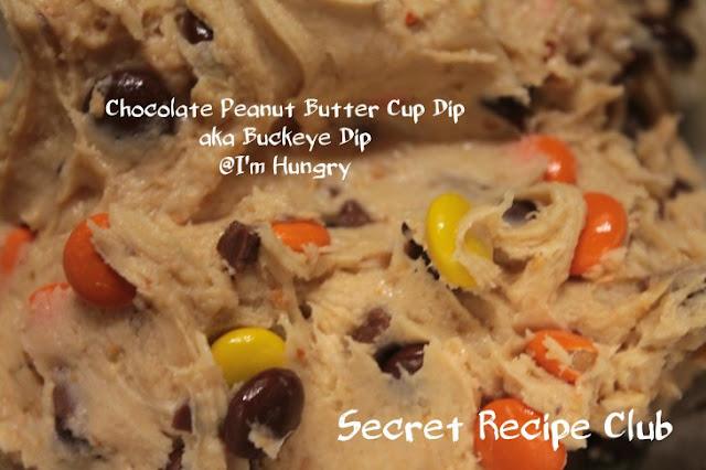 Featured Recipe | Chocolate Peanut Butter Cup Dip from I'm Hungry #SecretRecipeClub #dip #peanutbutter #chocolate #snack #dessert #recipe