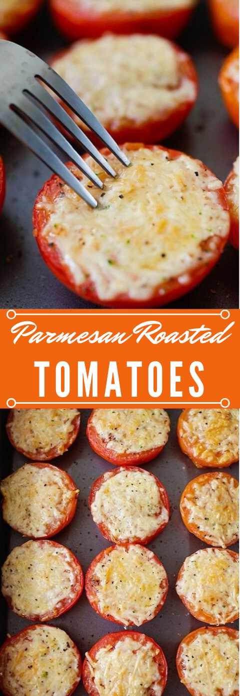 PARMESAN ROASTED TOMATOES  #parmesan #dinner #roasted #mushroom #healthyrecipes