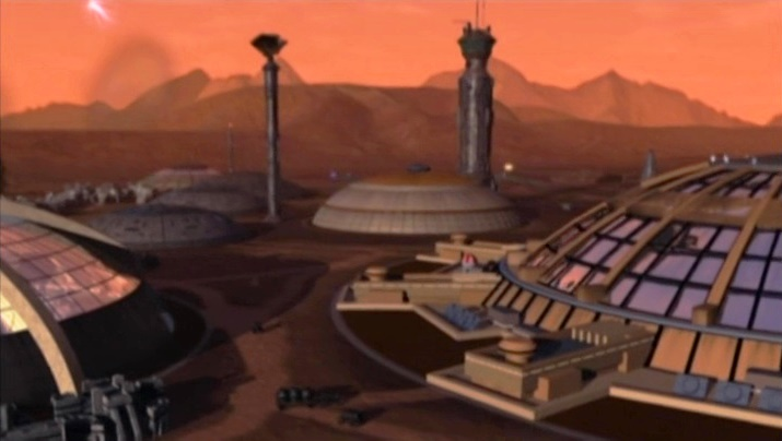 Mars in Babylon 5 - Land Alliance military base