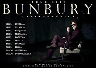 ENRIQUE BUNBURY TOUR Latinoamerica 2020