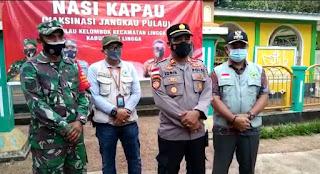 Kapolsek Daik Lingga Laksanakan Program ' Nasi Kapau' ke Masyarakat Pulau Kelombok dalam rangka Hari Bhayangkara ke-75