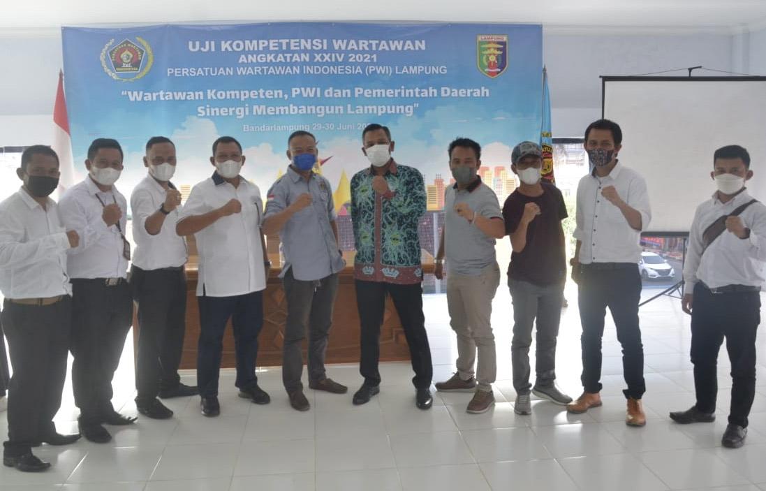 36 Peserta UKW PWI Lampung, 33 Wartawan Dinyatakan Kompeten