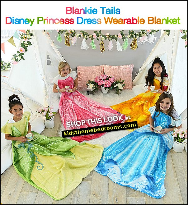 Blankie Tails | Disney Princess Dress Wearable Blanket Disney princess dress up themed parties  DISNEY CINDERELLA GIFTS  Cinderella girls dress warm blanket