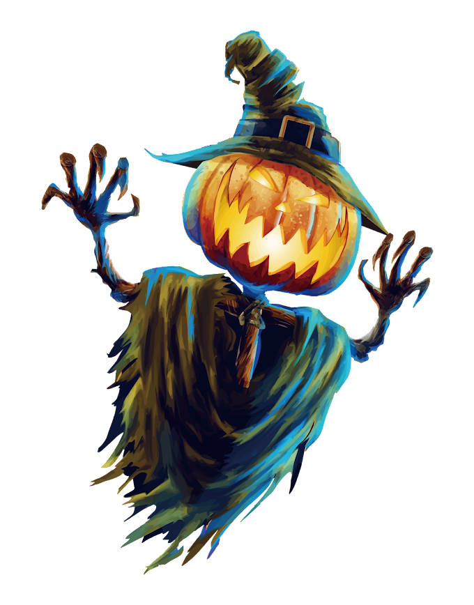 green pumpkin monster illustration, Halloween Scarecrow Jack-o-lantern Festival, Halloween Scarecrow, template, happy Halloween png by: pngkh.com