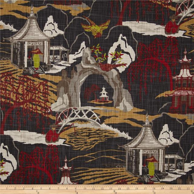 Robert Allen Neo Toile Fabric