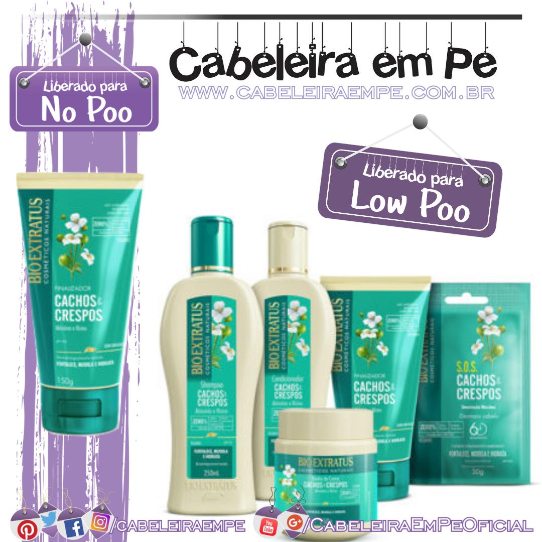 Shampoo, Condicionador, Banho de Creme, Dose SOS (Liberados para Low Poo) e Finalizador (No Poo) Cachos e Crespos - Bio Extratus