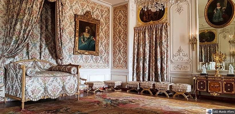 Quartos do Palácio de Versalhes em Paris