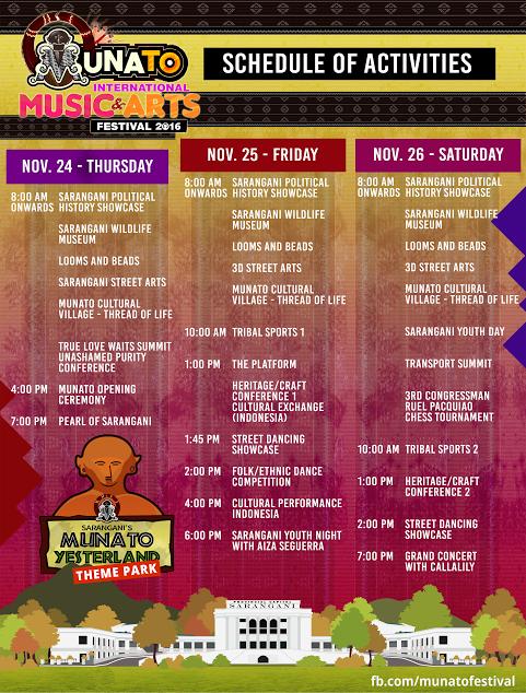 Sarangani Munato Festival 2016 Schedule