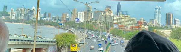 View of Mumbai from our shore excursion bus (Source: Palmia Observatory)