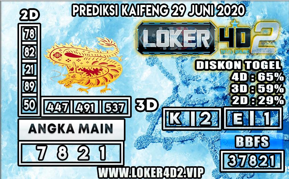 PREDIKSI TOGEL KAIFENG LOKER4D2 29 JUNI 2020