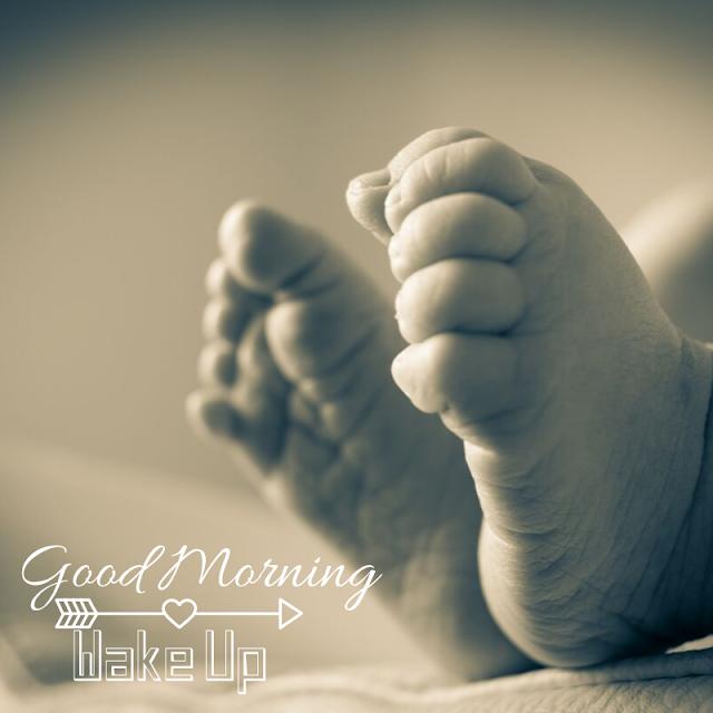 Lovely Baby Leg Good Morning Images