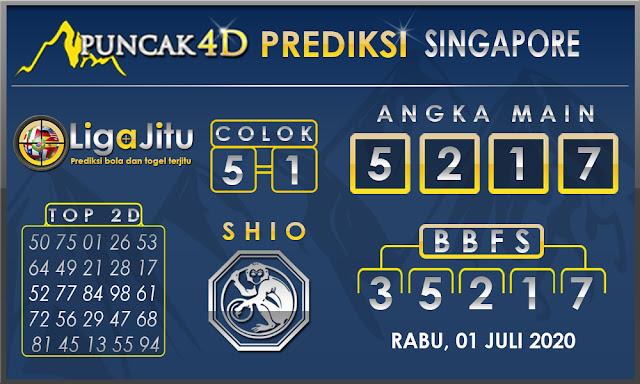 PREDIKSI TOGEL SINGAPORE PUNCAK4D 01 JULI 2020