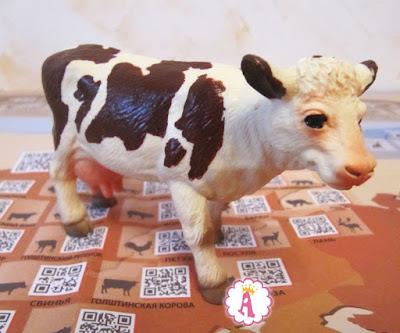 Реалистичные животные Венно, корова из Европы