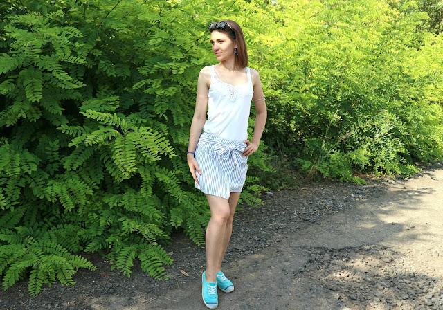 Gamiss Haul: High Waisted Stripe Skirt