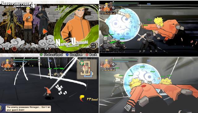 Naruto Shippuden : Ultimate Ninja Impact Mod Texture Naruto [Nanadaime] For PPSSPP Terbaru