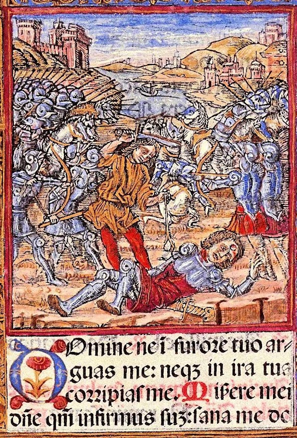 Davi decapita Golias, Dscriptorium, Med-Ren Frag 73
