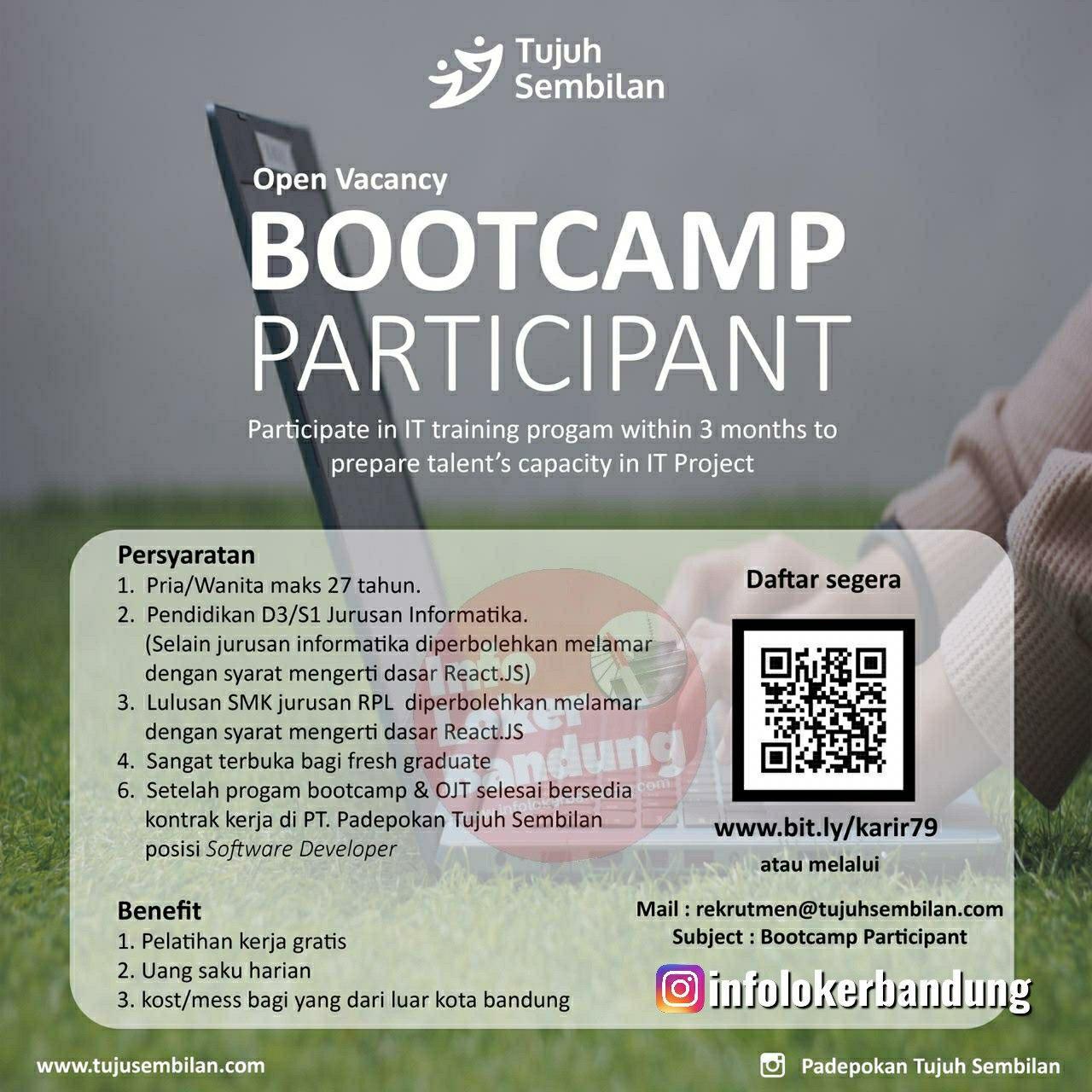 Lowongan Kerja Bootcamp Participant PT. Padepokan Tujuh Sembilan Bandung Mei 2020