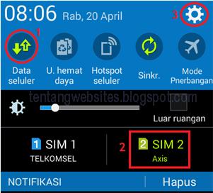 Cara Setting Jaringan internet pada android dua SIM