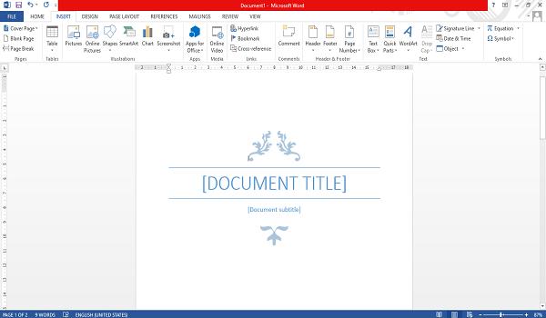 cara membuat cover page otomatis