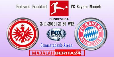 Prediksi Eintracht Frankfurt vs Bayern Munich — 2 November 2019