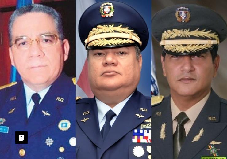 Tres expresidentes de la DNCD siguen activos, pero sin funciones en las FFAA