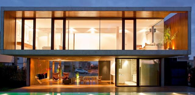 Desain Rumah Minimalis Full Kaca