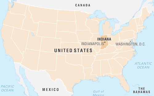 amerika harita indiana