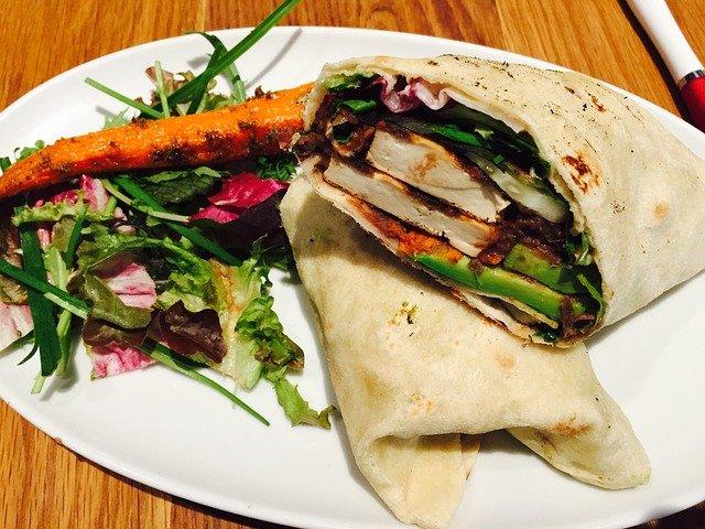 Veggie Bean Wrap, organic family meals, organic recipe, tortilla wrap