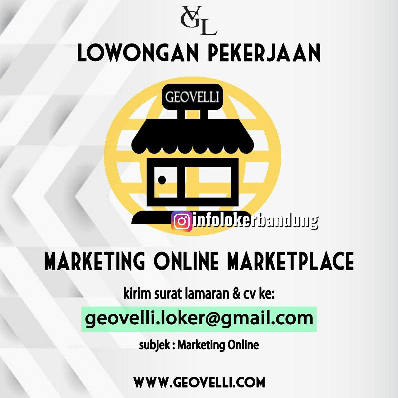 Lowongan Kerja Geovelli Bandung Juli 2019