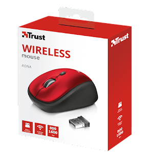 TRUST 22928 RONA MOUSE WIRELESS ROSSO