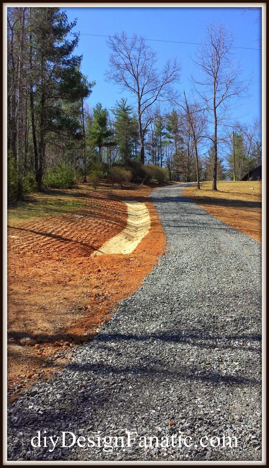 driveway grading, gravel driveway, steep gravel driveway