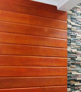 Dinding Conwood tampak seperti kayu alami