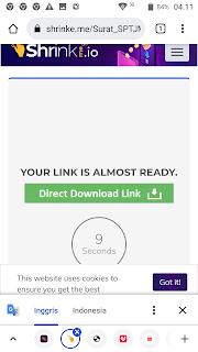 Langkah 4: Cara melewati iklan (bypass ads) Shrinkme.io