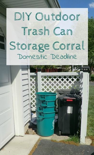 DIY trash can storage