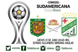 Deportivo Cuenca vs Oriente Petrolero - Copa Conmebol Sudamericana - Super Milaneza - DaleOoo Sitio, Página, Web Club Oriente Petrolero Oficial